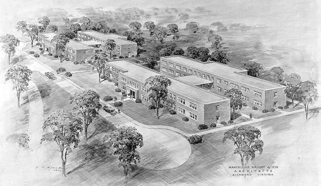 Architect drawing of Continued Treatment Buildings at the new site - Click to view larger photo